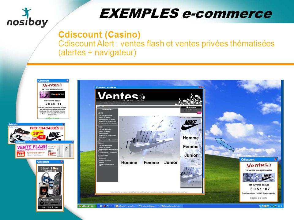 Cdiscount (Casino) Cdiscount Alert : ventes flash et ventes privées thématisées (alertes + navigateur) EXEMPLES e-commerce