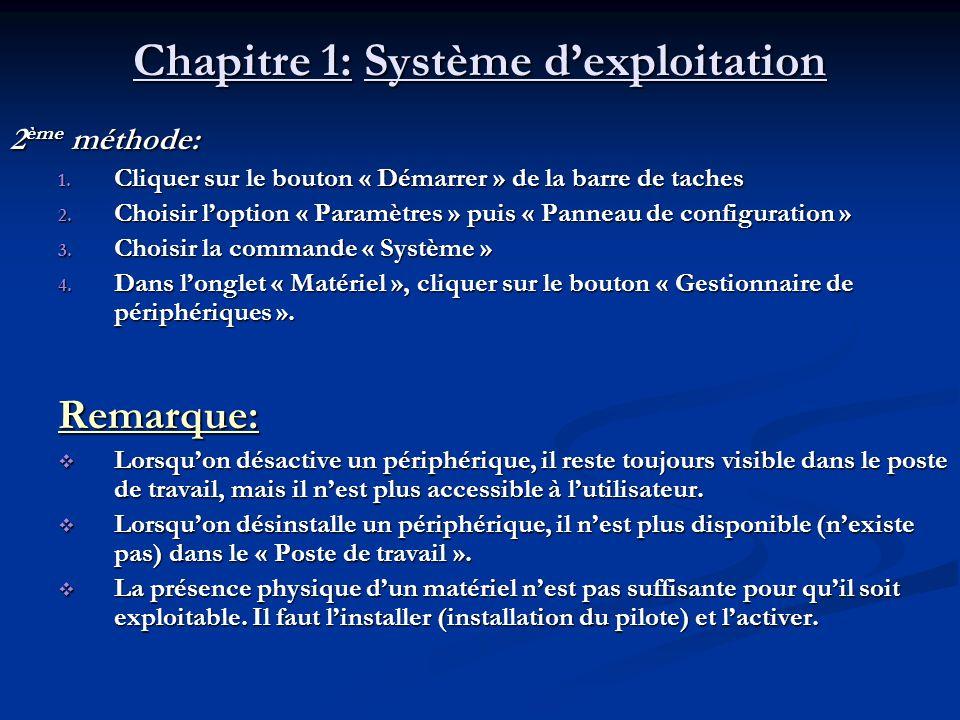 Chapitre 1: Système dexploitation IV) La gestion de logiciels: A) Linstallation de logiciels: A) Linstallation de logiciels: Linstallation dun logiciel sur le disque dur de lordinateur permet de préparer son utilisation.