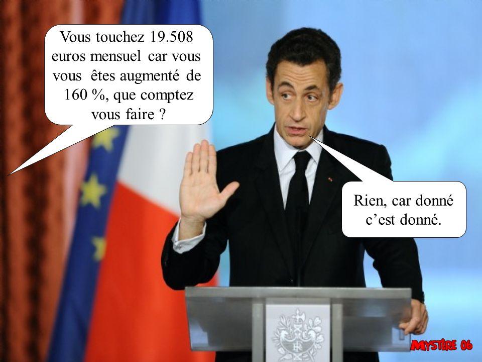 Monsieur le Président, le 29 mai 2005, les Français avaient voté NON pour lEurope à 54,68 %.