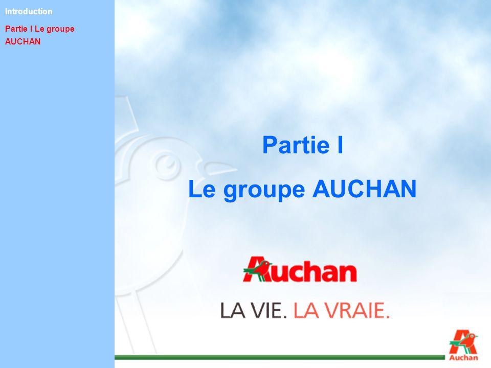 Partie I Le groupe AUCHAN Introduction Partie I Le groupe AUCHAN