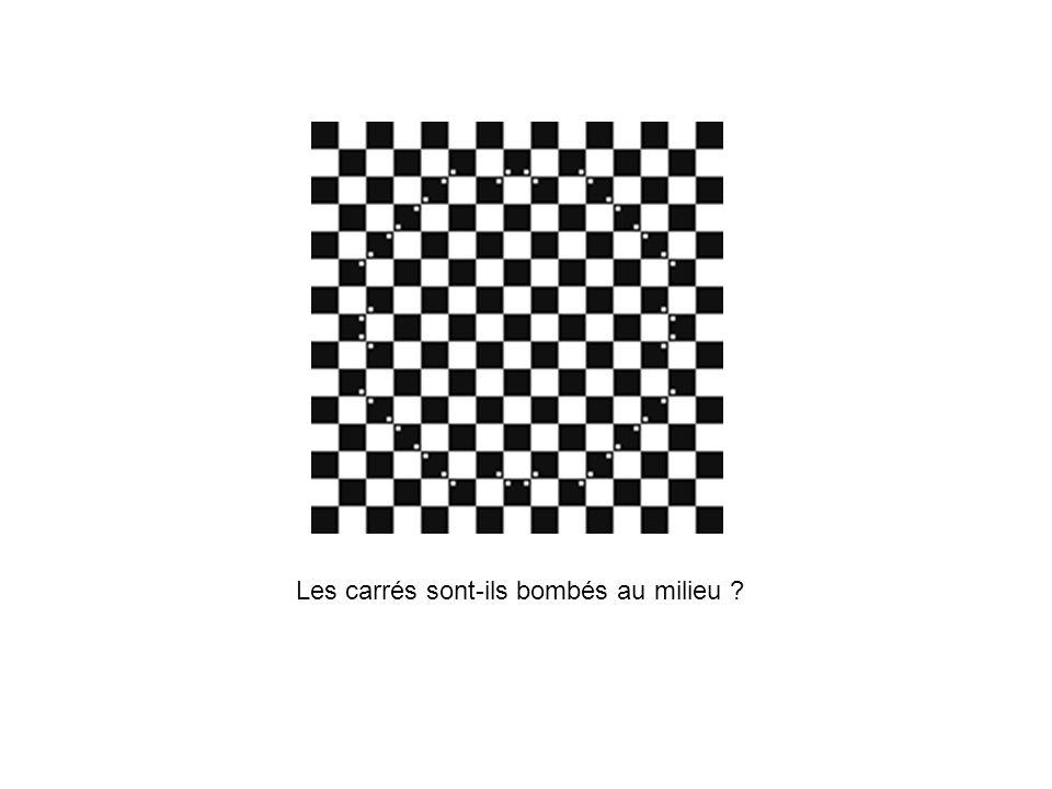 Les carrés sont-ils bombés au milieu ?