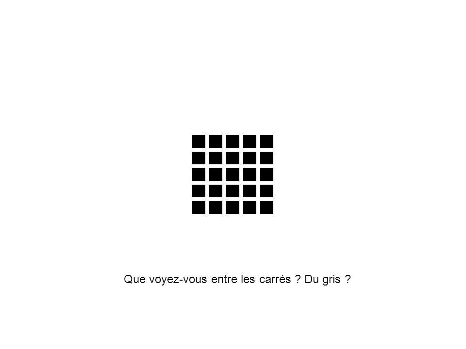 Que voyez-vous entre les carrés ? Du gris ?