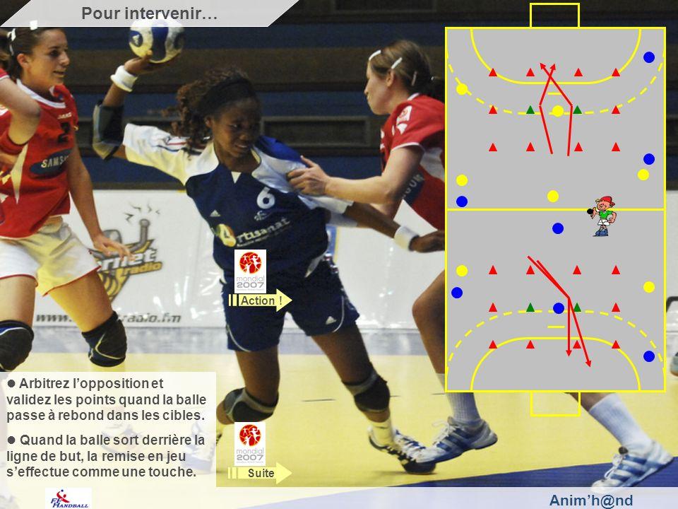 Animh@nd Les joueuses ont la possibilité de marquer de chaque côté des carrés.
