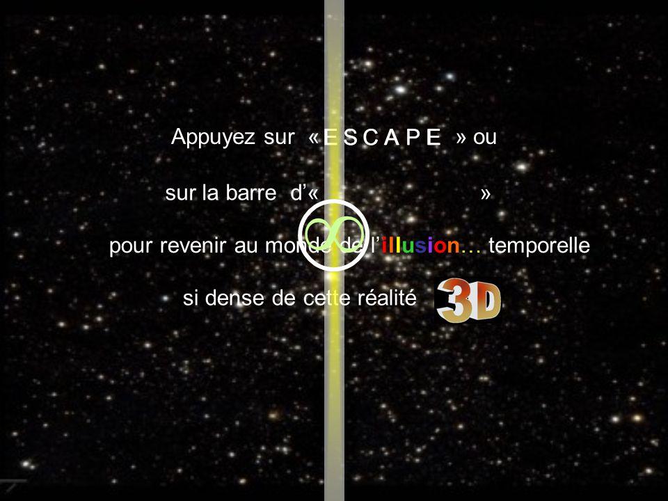 Appuyez sur « » ou sur la barre d« » pour revenir au monde de l ECSAPE illusion… EPACSE si dense de cette réalité temporelle