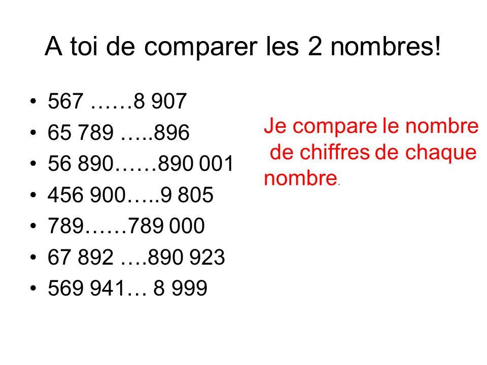 Et si les 2 nombres ont le même nombre de chiffres?