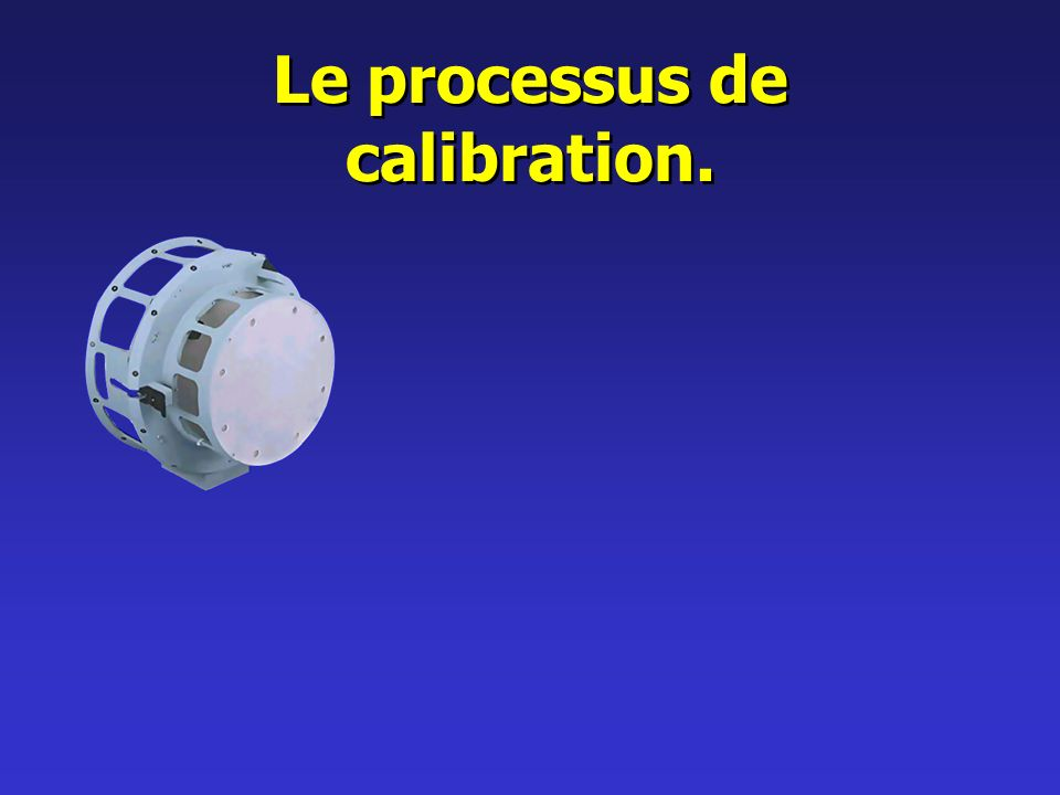 Le processus de calibration.