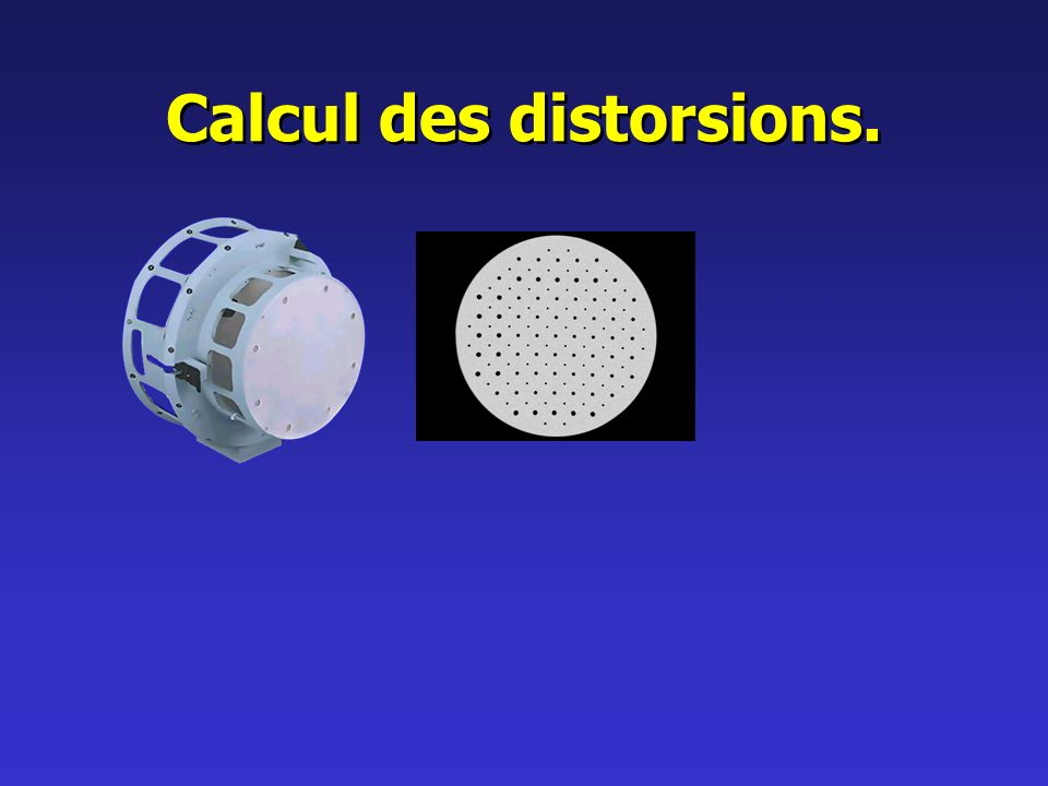 Calcul des distorsions.
