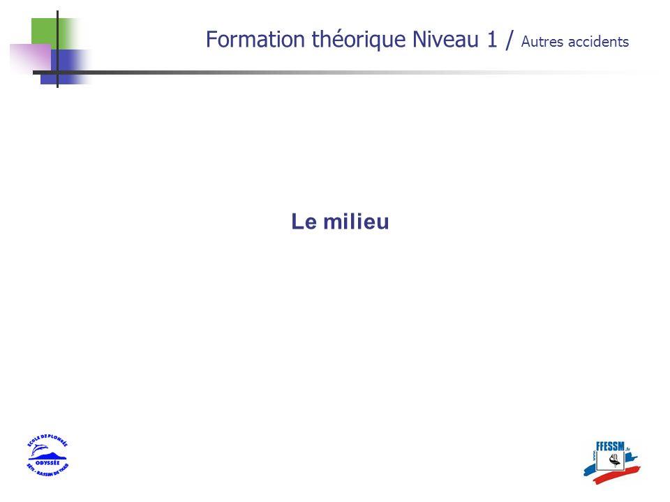Le milieu Formation théorique Niveau 1 / Autres accidents
