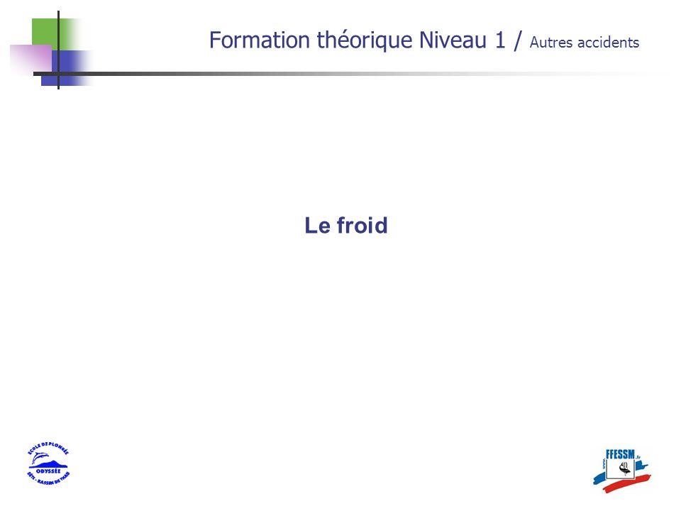 Formation théorique Niveau 1 / Autres accidents Le froid