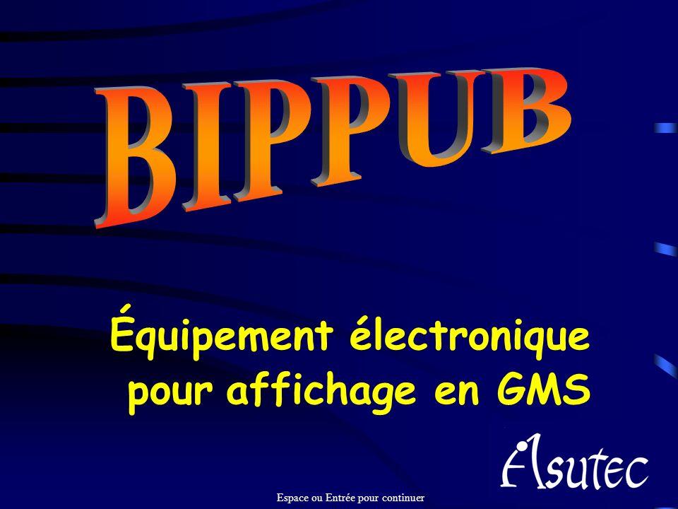 Équipement électronique pour affichage en GMS Espace ou Entrée pour continuer