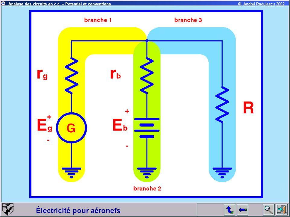 Électricité pour aéronefs © Andrei Radulescu 2002Analyse des circuits en c.c. – Potentiel et conventions