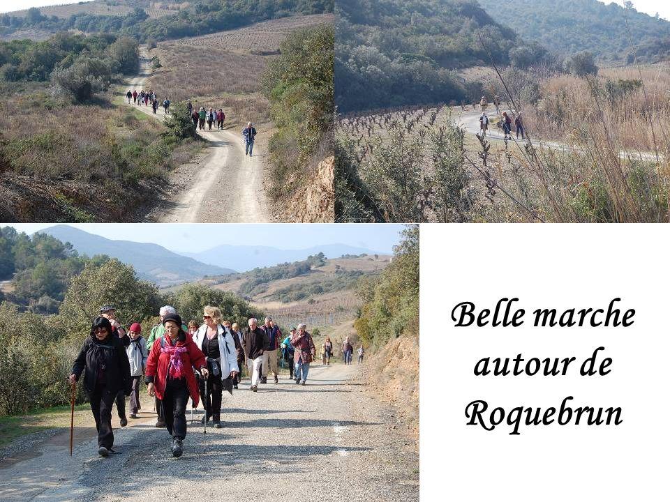 Belle marche autour de Roquebrun