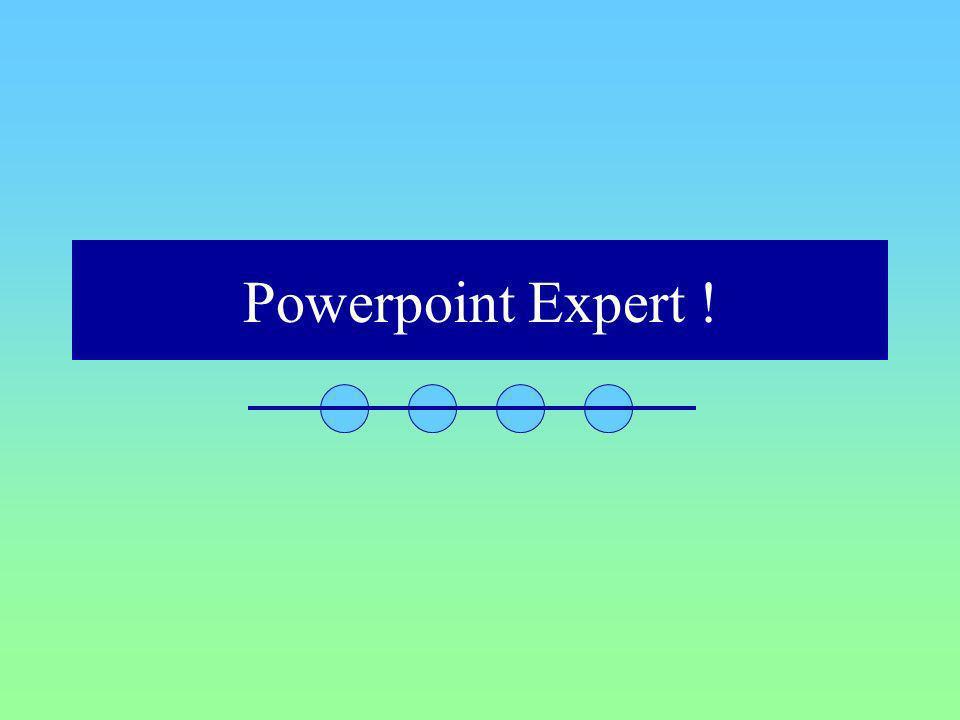 Powerpoint Expert !