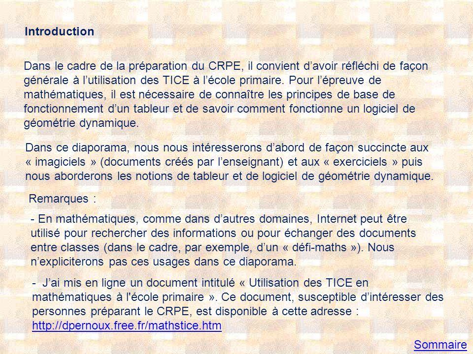I Exemple dimagiciels 1°) Exemple de document réalisé avec un logiciel de PréAO Présentation de la solution dun « problème pour chercher » en géométrie Combien de carrés .