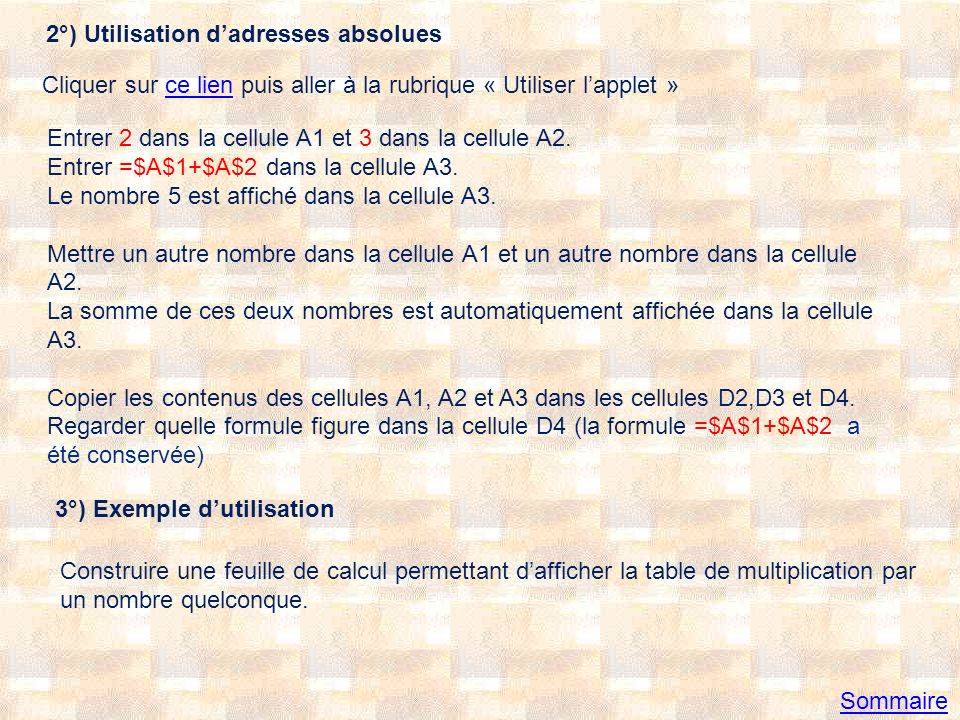 Solution Sommaire