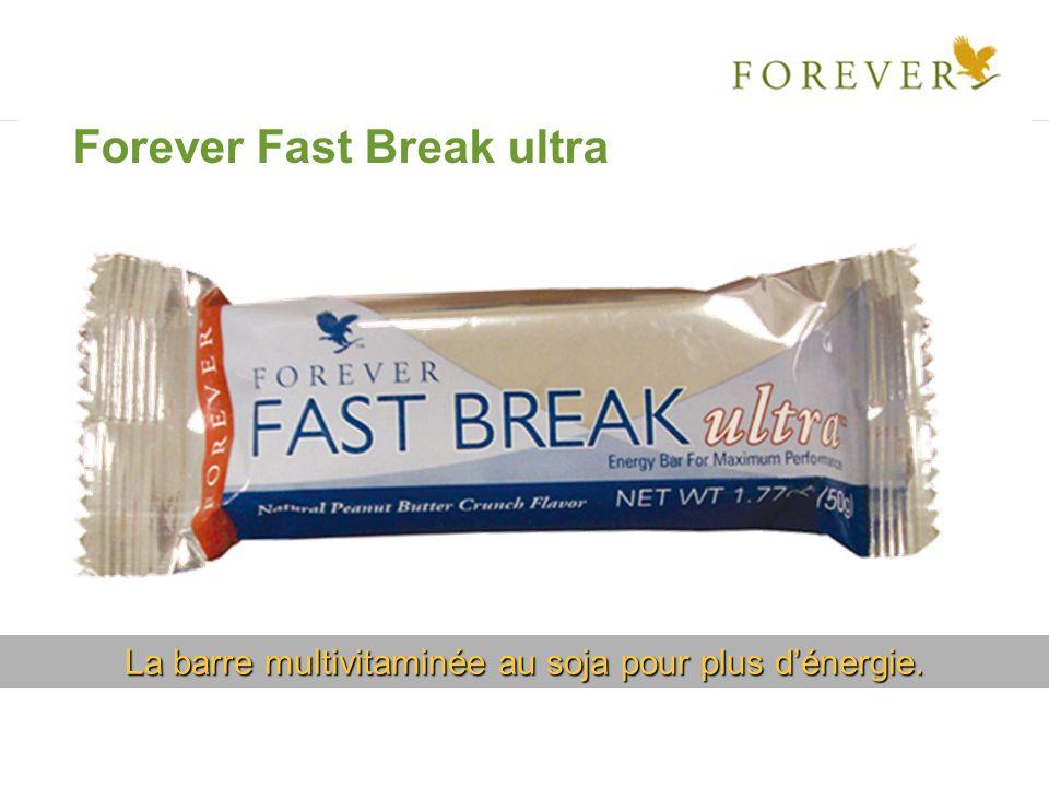 La barre multivitaminée au soja pour plus dénergie. Forever Fast Break ultra