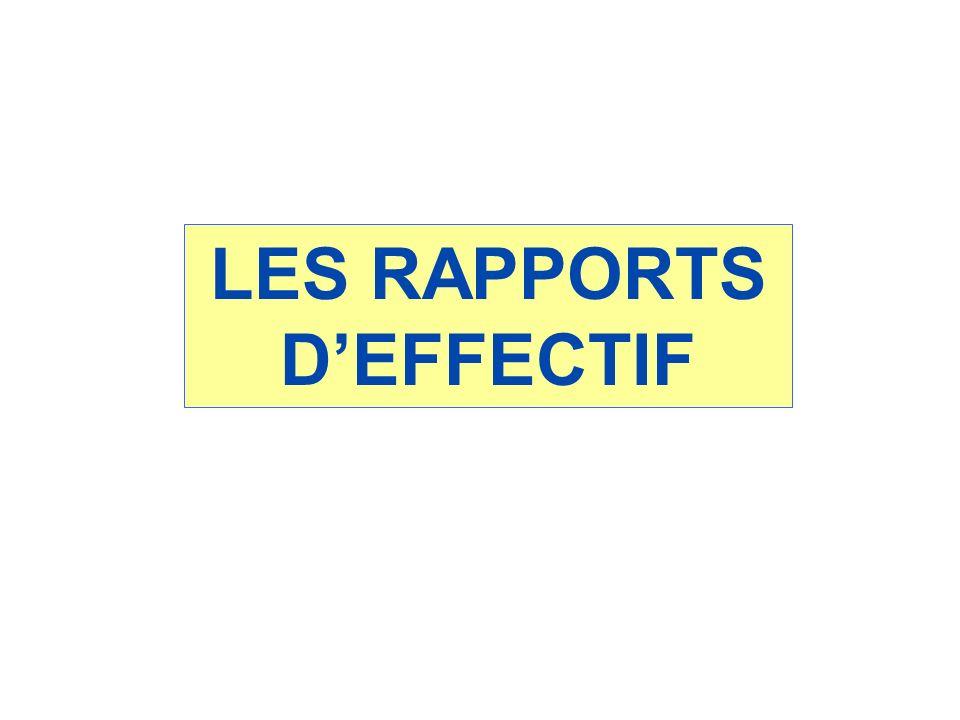 LES RAPPORTS DEFFECTIF