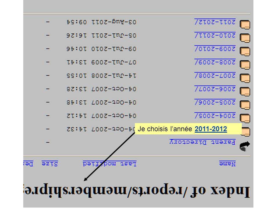 Je choisis lannée 2011-2012