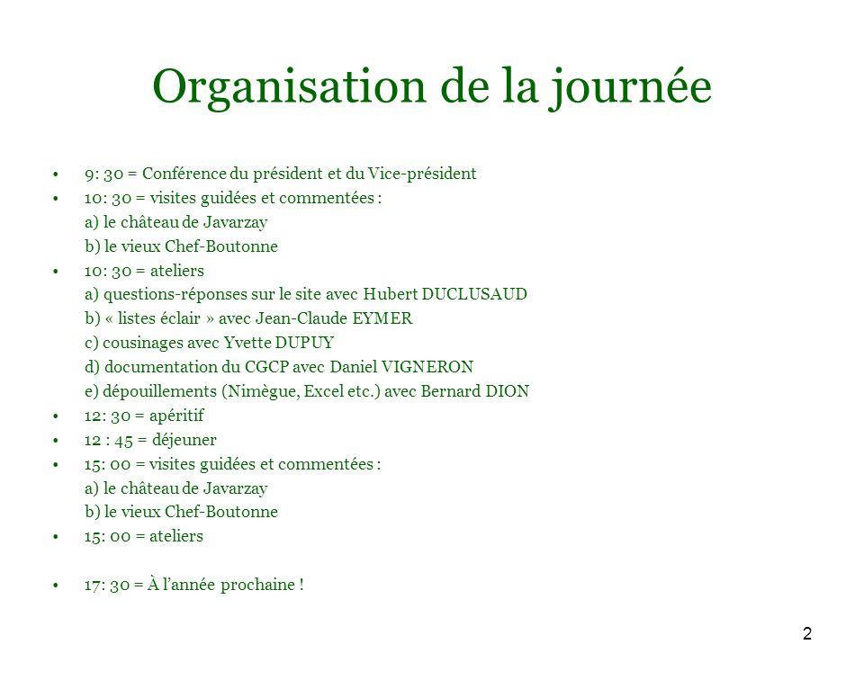 13 Le CGCP : types dactes