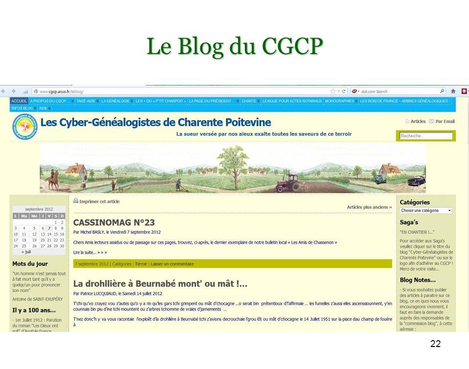 22 Le Blog du CGCP