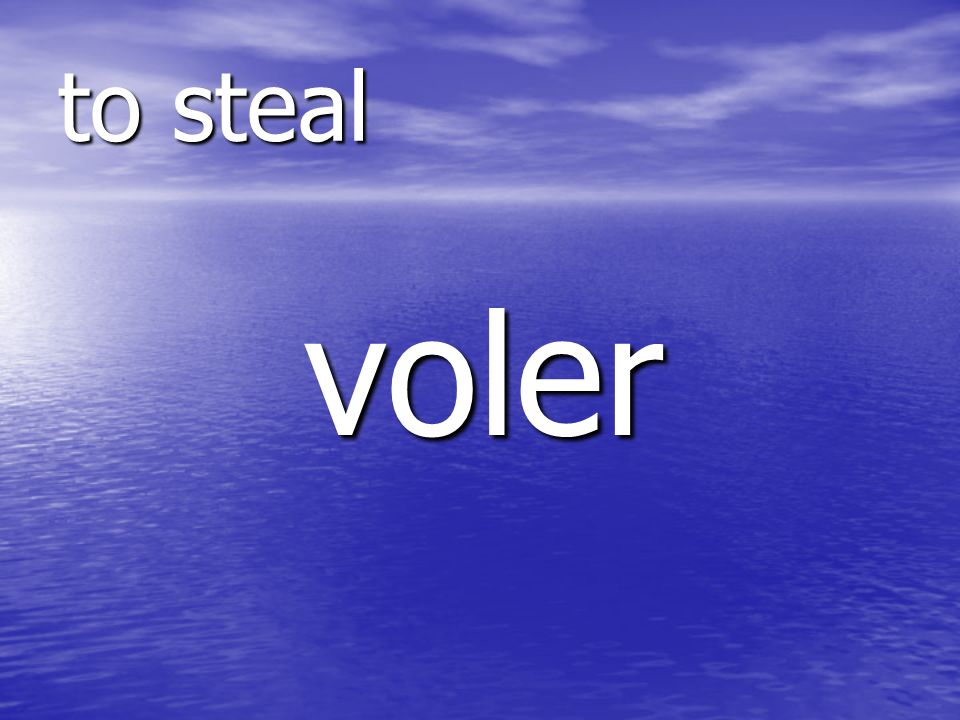 voler to steal