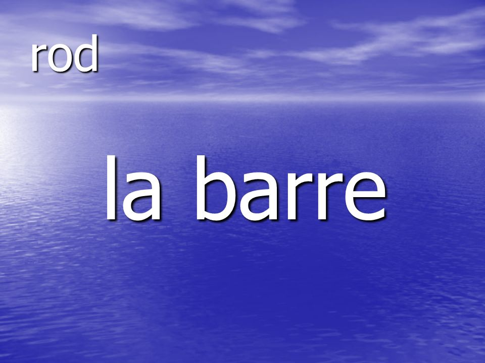 la barre rod