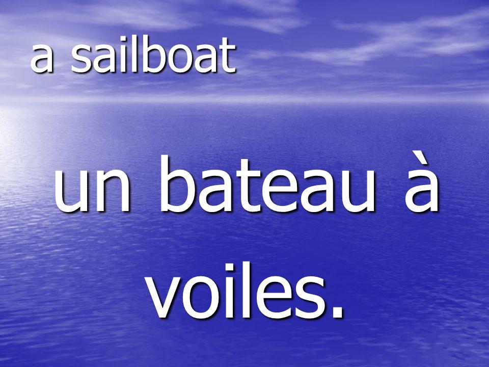 un bateau à voiles. a sailboat