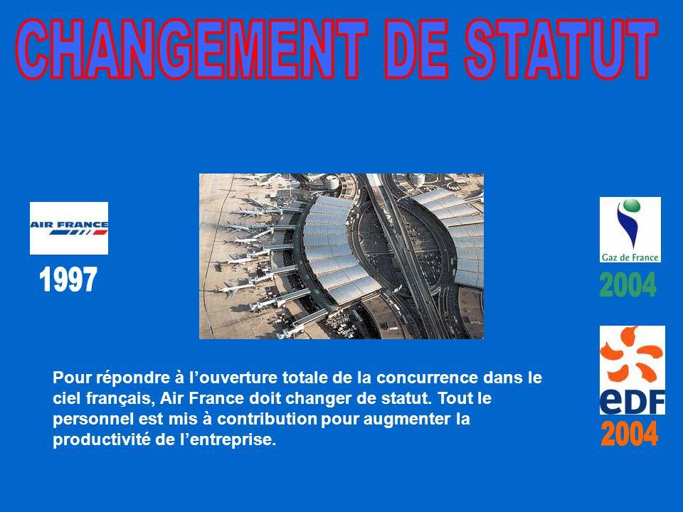 Pour répondre à louverture totale de la concurrence dans le ciel français, Air France doit changer de statut.