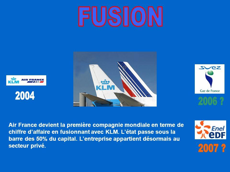 Air France devient la première compagnie mondiale en terme de chiffre daffaire en fusionnant avec KLM.