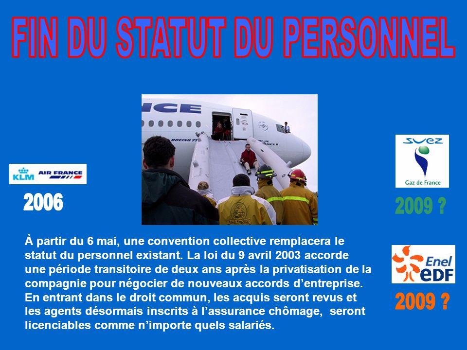 À partir du 6 mai, une convention collective remplacera le statut du personnel existant.