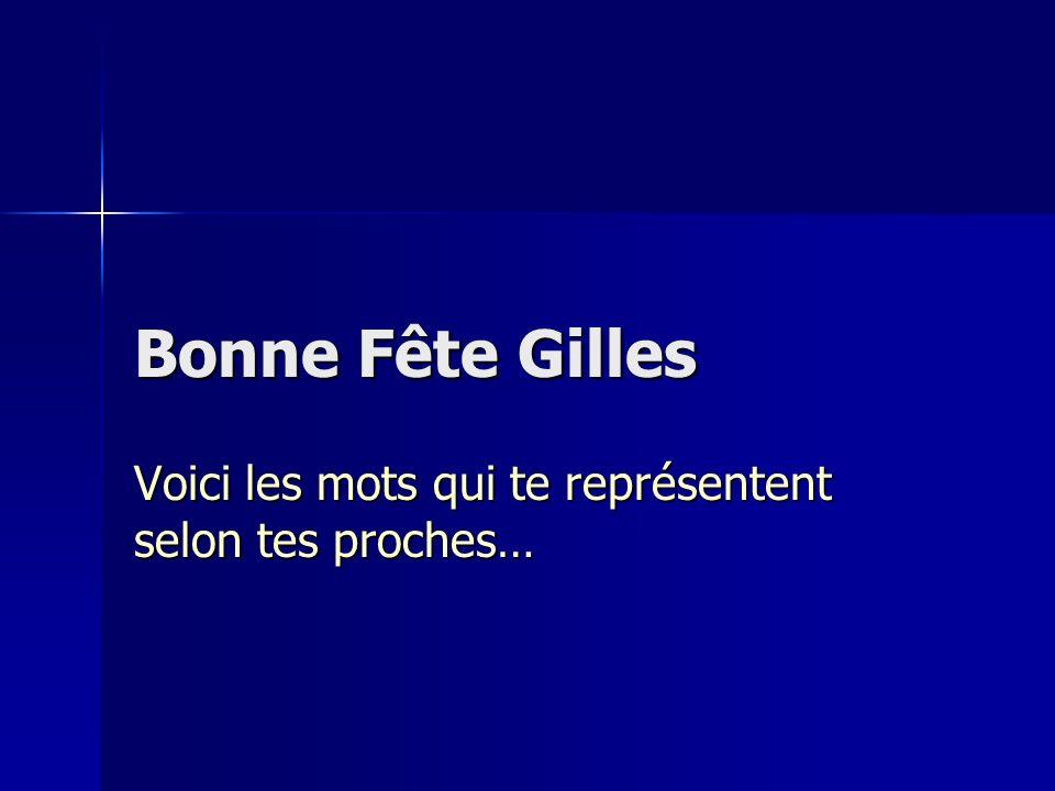 Bonne Fête Gilles Voici les mots qui te représentent selon tes proches…