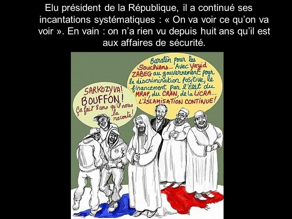 Nicolas Sarkozy, ministre de lIntérieur de mai 2002 à mars 2004 puis de mai 2005 à mars 2007, avait promis de nous débarrasser de la « racaille » à co