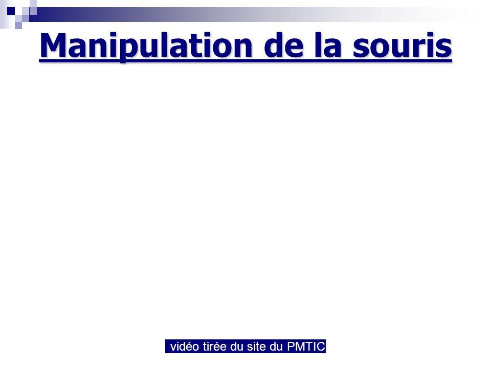 Manipulation de la souris vidéo tirée du site du PMTIC