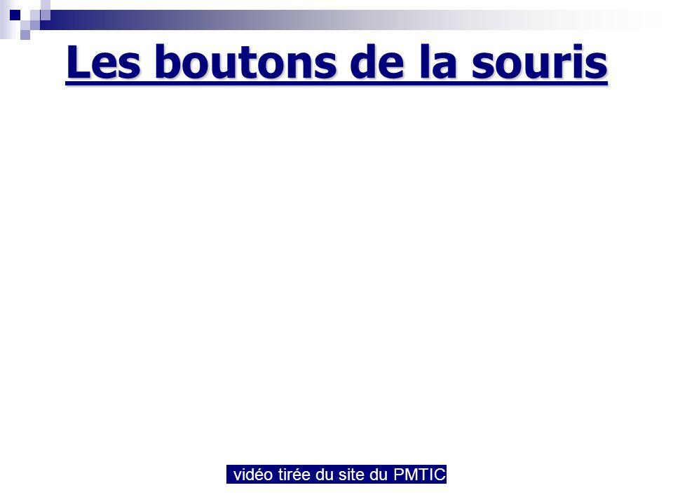 Les boutons de la souris vidéo tirée du site du PMTIC
