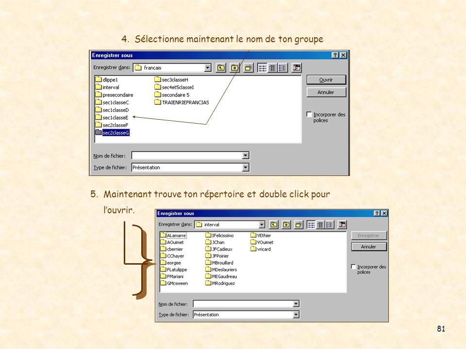 N oublie pas d enregistrer ton travail d aujourdhui dans ton répertoire 1. Menu Fichier 2. Choisir Usager sur LabInter 3. Sélectionne Français Fais en