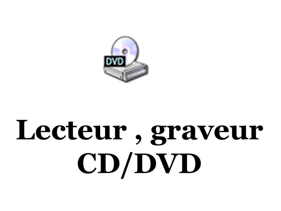 Lecteur, graveur CD/DVD
