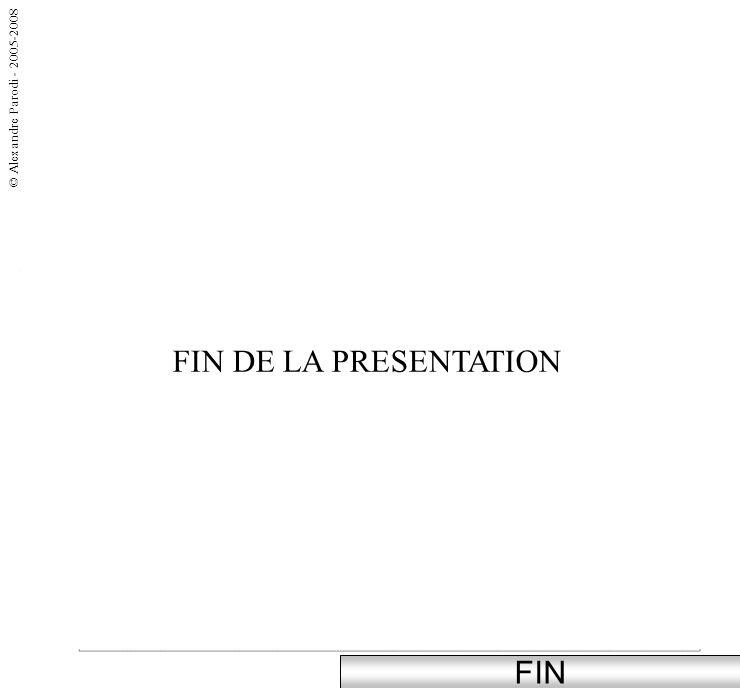 FIN FIN DE LA PRESENTATION