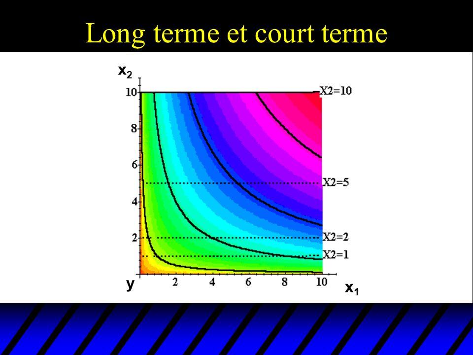 Long terme et court terme x2x2 x1x1 y