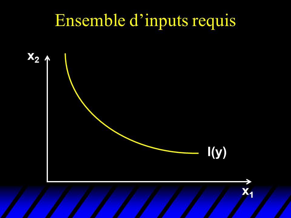 Ensemble dinputs requis y y x1x1 x2x2 x2x2 x1x1 I(y)