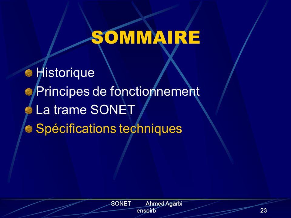 SONET Ahmed Agarbi enseirb22 Les containers virtuels Lorsque l information utile arrive dans le coupleur SONET, elle n est pas copie directement telle