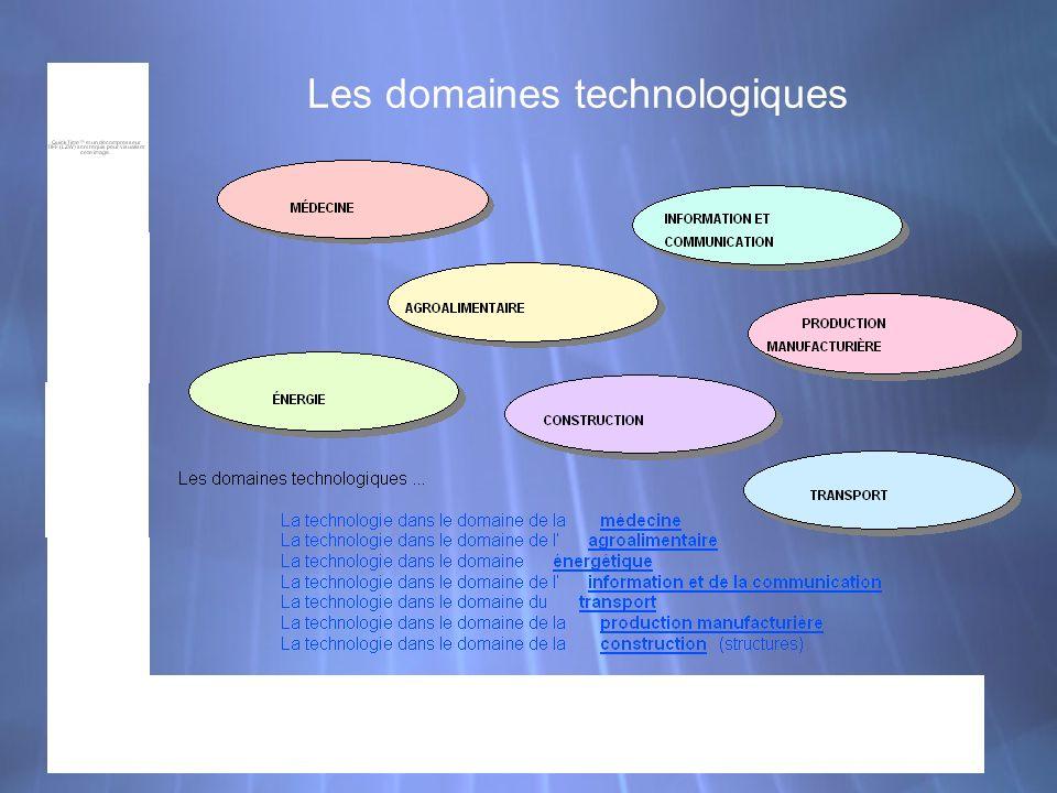 Les domaines technologiques