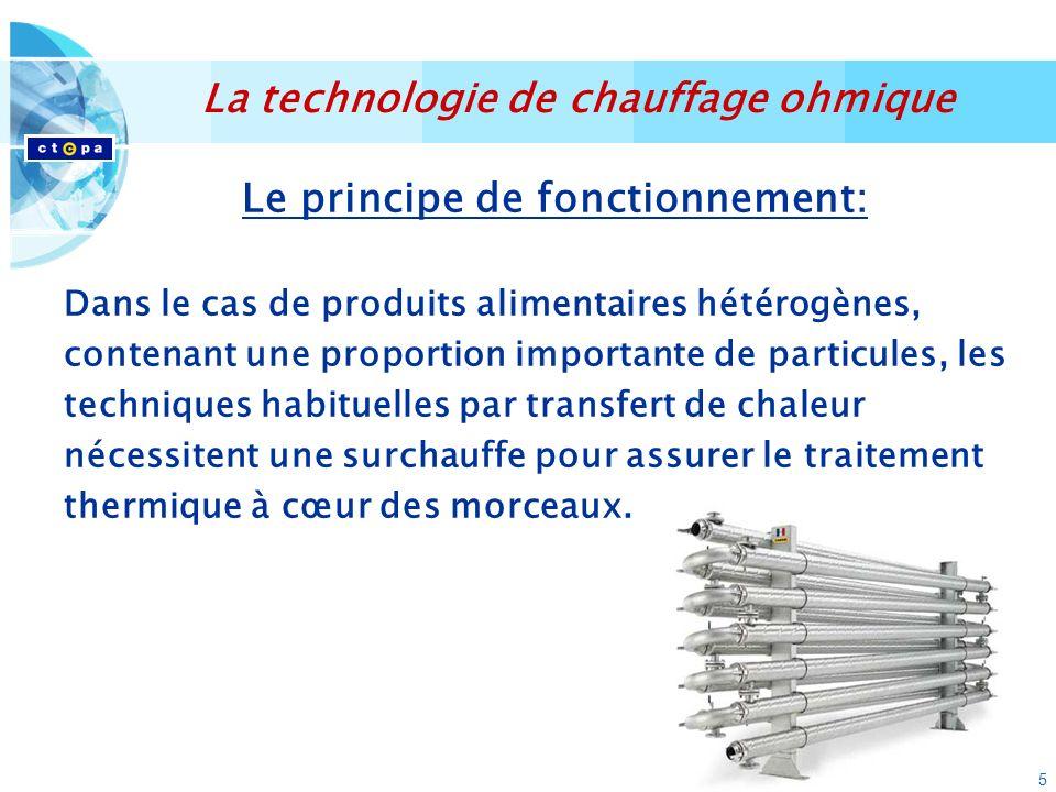 16 Exemple: ratatouille OHMIQUEAUTOCLAVEVP = 900 minutes VC = 20 minutesVC = 70 minutes La technologie de chauffage ohmique