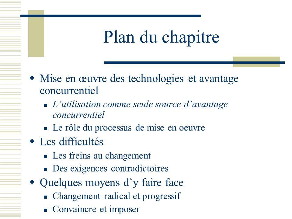 Limportance de lutilisation La grande majorité des nouvelles technologies : Sont disponibles sur les marchés (ex.