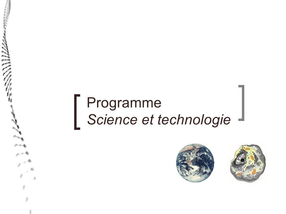 Programme Applications technologiques et scientifiques Thématiques Ce programme propose deux thématiques : lhumain, un organisme vivant (3 e secondaire) les problématiques environnementales (4 e secondaire) Il sagit des mêmes thématiques quen Science et technologie