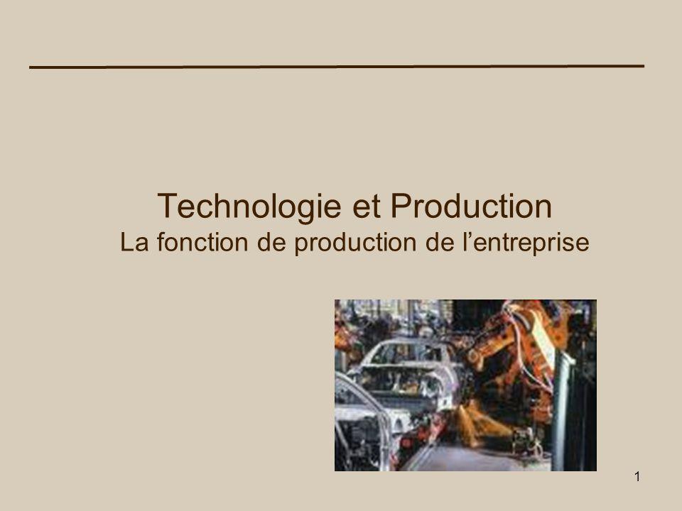 2 Une entreprise est une unité technique dans laquelle des biens sont produits.