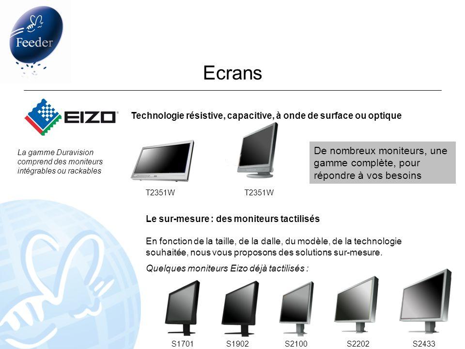 Ecrans Technologie résistive, capacitive, à onde de surface ou optique T2351W De nombreux moniteurs, une gamme complète, pour répondre à vos besoins L