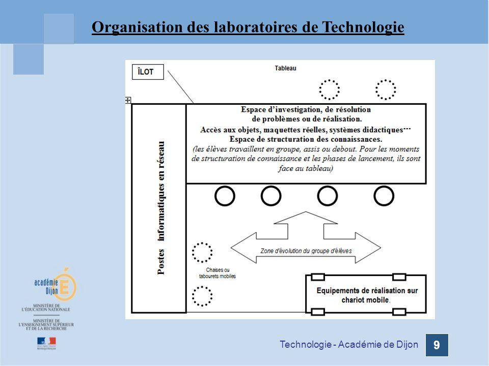Technologie - Académie de Dijon 9 Organisation des laboratoires de Technologie