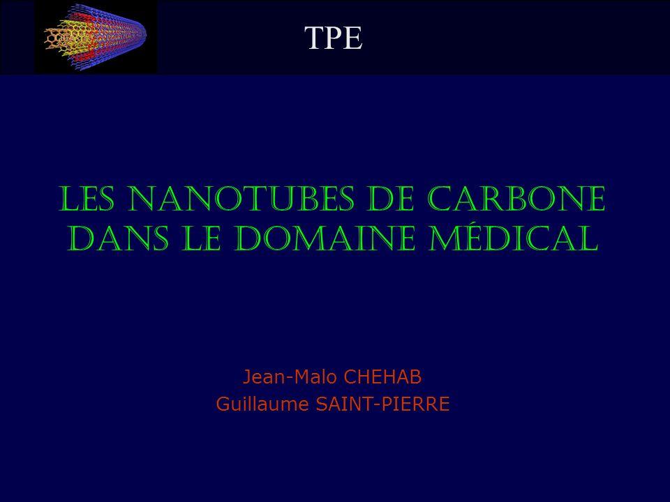 Jean-Malo CHEHAB Guillaume SAINT-PIERRE Les Nanotubes de Carbone dans le Domaine Médical TPE