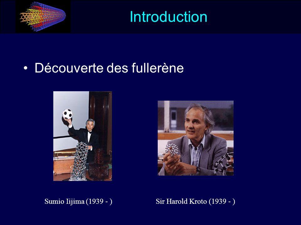 Introduction Découverte des fullerène Sumio Iijima (1939 - )Sir Harold Kroto (1939 - )