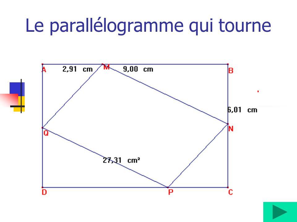 Le parallélogramme qui tourne